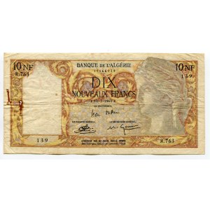 Algeria 10 Nouveaux Francs 1961