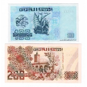 Algeria 100-200 Dinar 1992