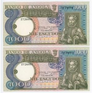 Angola 2 x 1000 Escudos 1973