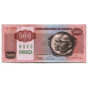 Angola 500 Novo Kwanzas 1987 (ND) Rare