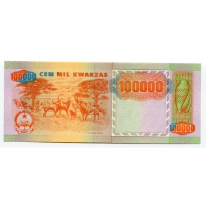 Angola 100000 Kwanzas 1991 Missprint