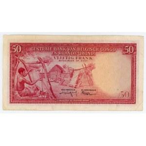 Belgian Congo 50 Frank 1959