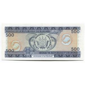 Burundi 500 Francs 1985