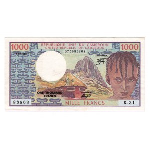 Cameroon 1000 Francs 1980
