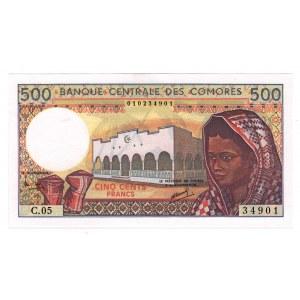 Comoros 500 Francs 1984