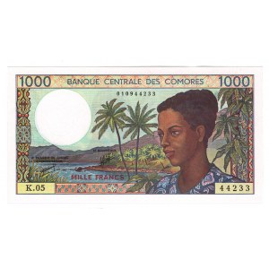 Comoros 1000 Francs 1984