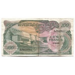 Congo 100 Francs 1963