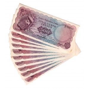 Congo 500 Francs 1964 Forgery 10 Pieces