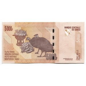 Congo 5000 Francs 2013 Error without Numbers