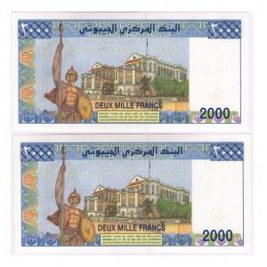 Djibouti 2000 Francs 2008 2 Pieces