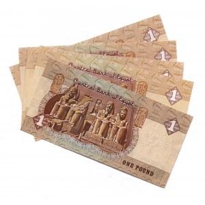Egypt 1 Pound 1978 - 1996 5 Pieces