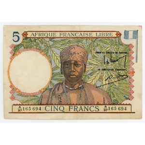 French Equatorial Africa 5 Francs 1941 (ND)