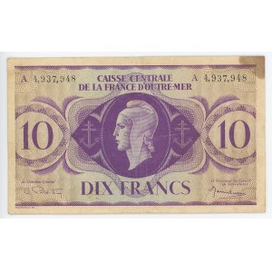 French Equatorial Africa 10 Francs 1944 (ND)