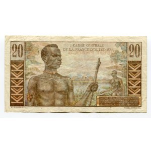 French Equatorial Africa 20 Francs 1947 (ND)
