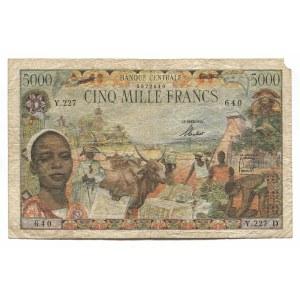 French Equatorial Africa 5000 Francs 1963