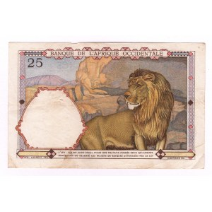 French West Africa 25 Francs 1942