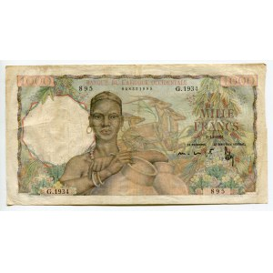 French West Africa 1000 Francs 1951