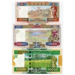 Guinea 1000 - 5000 - 10000 Francs 2010 Commemorative