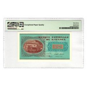 Katanga 20 Francs 1960 PMG 67 EPQ