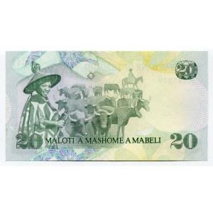 Lesotho 20 Maloti 1984