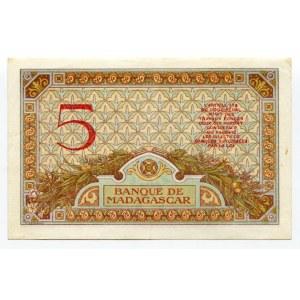 Madagascar 5 Francs 1937 (ND)
