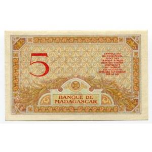 Madagascar 5 Francs 1937