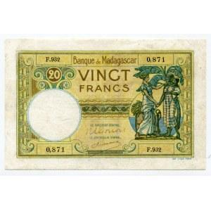 Madagascar 20 Francs 1937 (ND)