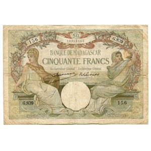 Madagascar 50 Francs 1937 - 1947
