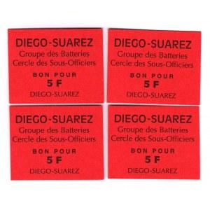 Madagascar Diego-Suarez 5 Francs 1990 4 Pieces