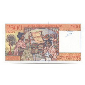 Madagascar 2500 Francs 1998