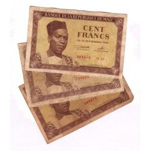 Mali 100 Francs 1960 3 Pieces