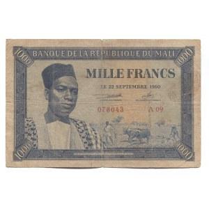 Mali 1000 Francs 1960