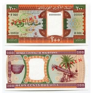 Mauritania 200 Ouguiya 1985 Proof