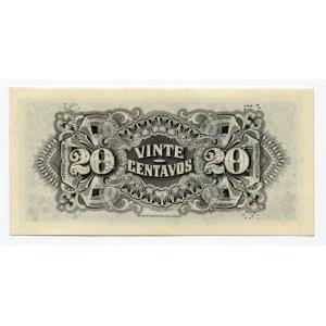 Mozambique 20 Centavos 1933 Cancelled Note