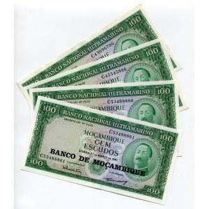 Mozambique 4 x 100 Escudos 1976