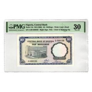Nigeria 10 Shillings 1968 PMG 30