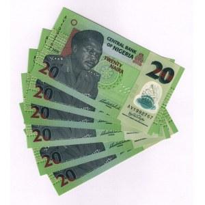 Nigeria 20 Naira 2006 6 Pieces
