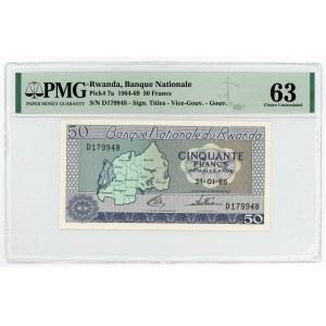Rwanda 50 Francs 1966 PMG 63