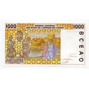 Senegal 1000 Francs 1991