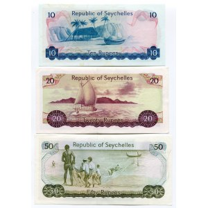 Seychelles 10 - 20 - 50 Rupees 1976 - 1977 (ND)