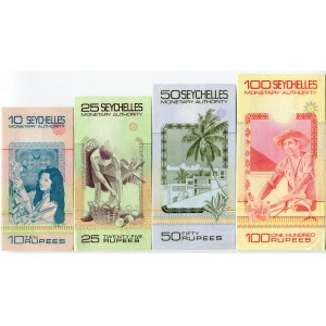 Seychelles 10 - 25 - 50 - 100 Rupees 1979 (ND)