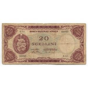 Somalia 20 Shillings 1962 Rare