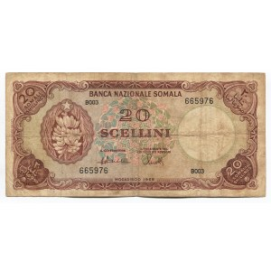 Somalia 20 Shillings 1968 Rare