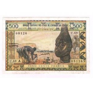 West African States Ivory Coast 500 Francs 1959