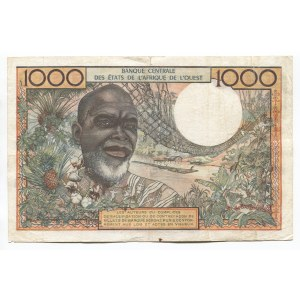 West African States 1000 Francs 1961