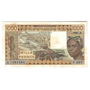 West African States Ivory Coast 1000 Francs 1981