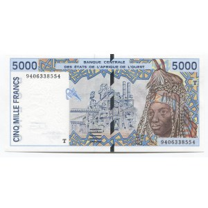West African States 5000 Francs 1994 Togo