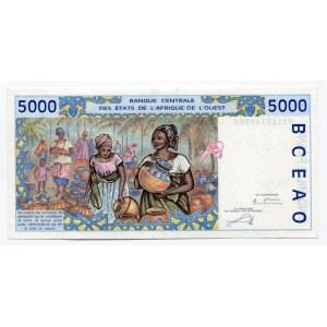 West African States Senegal 5000 Francs 2003