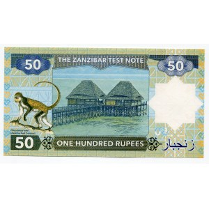 Zanzibar 50 Rupees 2018 Specimen Freddie Mercury Error Note