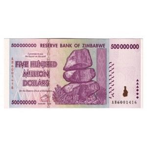 Zimbabwe 500 Million Dollars 2008